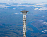Inflatable space elevator tower has potential still decades away from being feasible