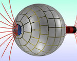 Magnetic wormhole created in a lab transport magnetic field from one point in space to another