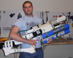 Some awesome dude used 3d printed parts to build a handheld railgun