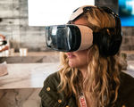 Infographic virtual reality future intelligent marketing