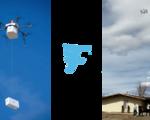 Successful autonomous drone delivery urban nevada cargo rope