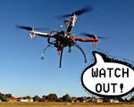 Amazon patent drone propellers communicate warn people watch out