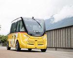 Autonomous electric shuttle running switzerland