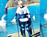 Paralyzed man exoskeleton walks furthest distance